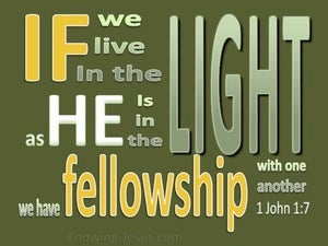 1 John 1:7 Fellowship With One Another green