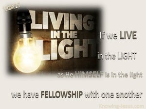 1 John 1:7a Live In The Light beige