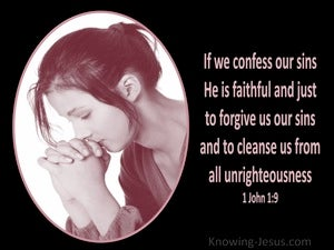 1 John 1:9 If We Confess Our Sins pink