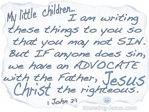 1 John 2:1 We Have An Advocate With The Father blue