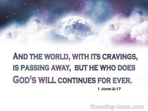 1 John 2:17 The Passing World (white)