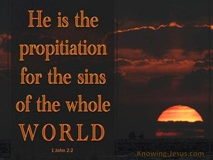 1 John 2:2 Propitiation For Our Sins gold