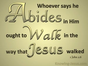1 John 2:6 Abide In Him Walk Like Him gold
