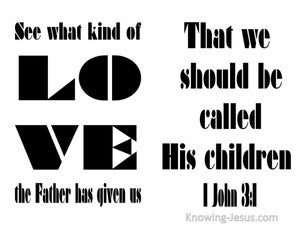 1 John 3:1 Love Of The Father white