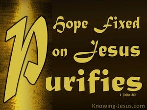 1 John 3:3 Hope Fixed on Him Purifies As He Is Pure (brown)