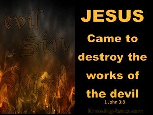 1 John 3:8 He Who Practices Sin Belongs To The Evil One (gold)
