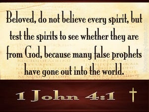 1 John 4:1 Do Not Believe Every Spirit (brown)