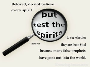 1 John 4:1 Test The Spirits beige