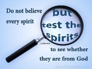 1 John 4:1 Test The Spirits blue