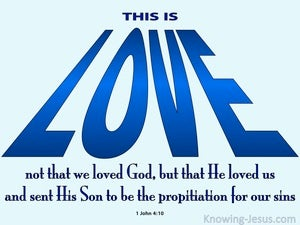 1 John 4:10 This Is Love blue