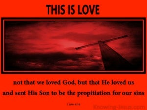 1 John 4:10 This Is Love red