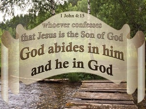 1 John 4:15 Jesus Is The Son Of God (beige)
