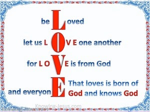 1 John 4:7 Beloved Let Us Love One Another blue