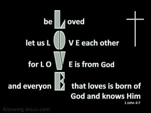 1 John 4:7 Beloved Let Us Love One Another silver