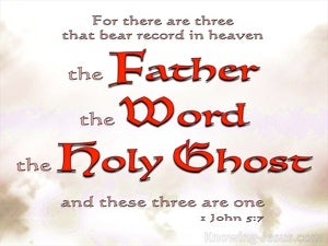 1 John 5:7 These Three Are One red