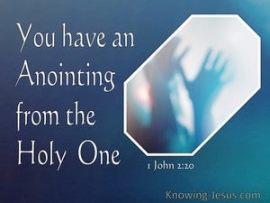 1 John 2:20 You Have An Anointing From The Holy One (navy)