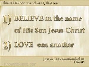 1 John 3:23 This Is His Commandment That We Believe (beige)