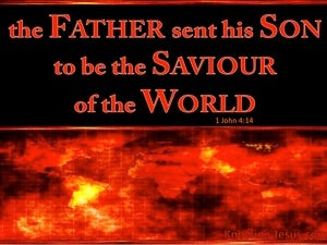 1 John 4:14 The Father Sent The Son (red)