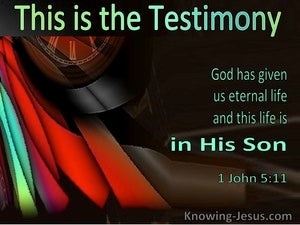 1 John 5:11 God Has Given Us Eternal Life In His Son (windows)10:23