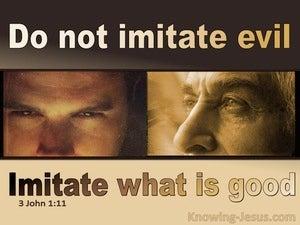 3 John  1-11 Imitate What Is Good Not Evil (beige)