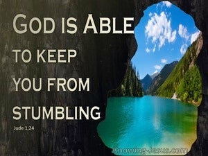 Jude 1:24 He Is Able To Keep You From Stumbling (black)