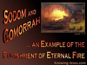 Jude 1:7 Sodom And Gomorrah Example Of Eternal Punishment (orange)