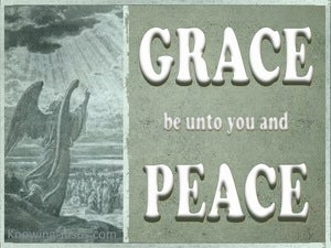 Revelation 1:4 Grace And Peace To The 7 Churches white