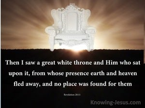Revelation 20:11 Then I Saw A  Great White Throne brown