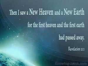 Revelation 21:1 Then I Saw A New Heaven And A New Earth blue
