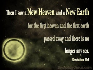 Revelation 21:1 Then I Saw A New Heaven And A New Earth gold