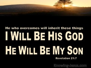 Revelation 21:7 He Who Overcome Will Inherit All Things (beige)