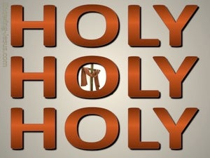 Revelation 4:8 Holy, Holy, Holy brown