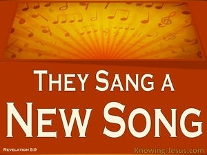 Revelation 5:9 They Sang A New Song (brown)