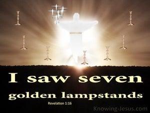 Revelation 1:12 Seven Golden Lampstands (beige)