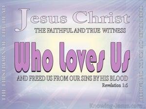 Revelation 1:5 Jesus Christ The Faithful Witness (purple)