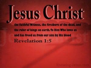 Revelation 1:5 Jesus Christ The Faithful Witness (red)