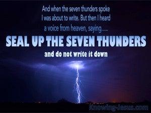 Revelation 10:4 Seal Up The Seven Thunders (blue)