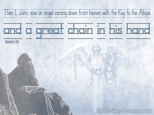 Revelation 20:1 The Angel With Key To Abyss (blue)