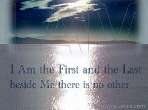 Revelation 22:13 Jesus Said I Am Alpha And Omega (navy)