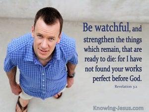 Revelation 3:2 Be Watchful (blue)