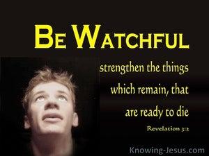 Revelation 3:2 Be Watchful (yellow)