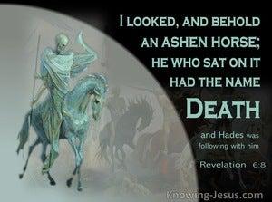 Revelation 6:8 Behold An Ashen Horse (black)