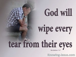 Revelation 7:17 God Will Wipe Away Every Tear (gray)