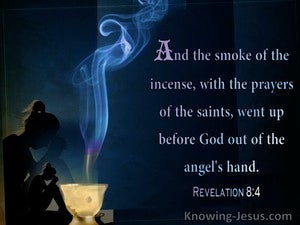 Revelation 8:4 The Smoke Of The Incense With The Prayers Of The Saints (black)