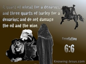 Revelation-6-6  I Heard A Voice In The Centre Of The Four Living Creatures (gray)