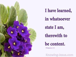 Content In All Things (devotional) - Philippians 4:11