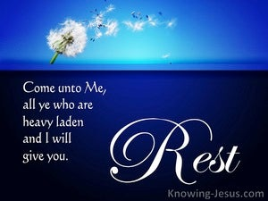 God, My Rest (devotional) - Matthew 11:28