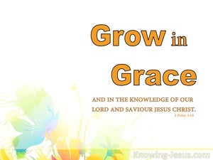 Growing in Grace (devotional) - 2Peter 3:18