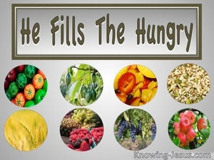 He Fills The Hungry (devotional) - Luke 1:53
