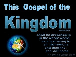 Matthew 24:14 Israel's Messiah King blue